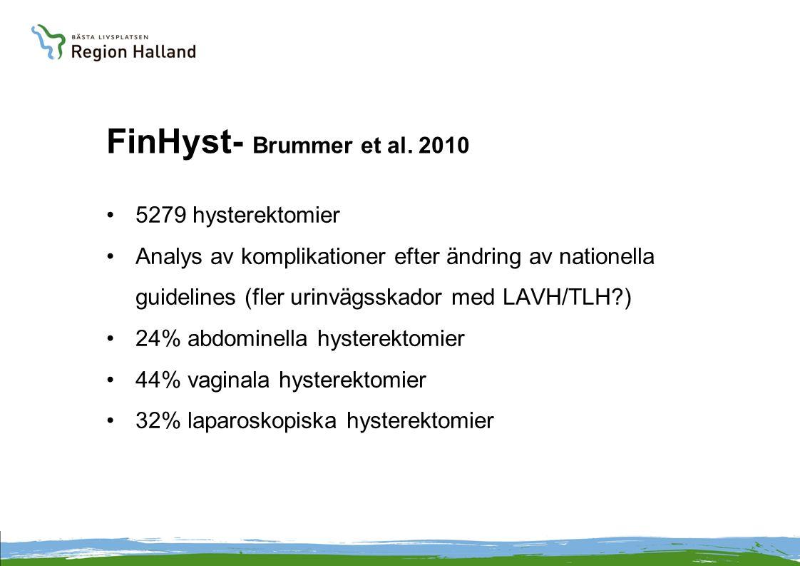 FinHyst- Brummer et al. 2010 5279 hysterektomier