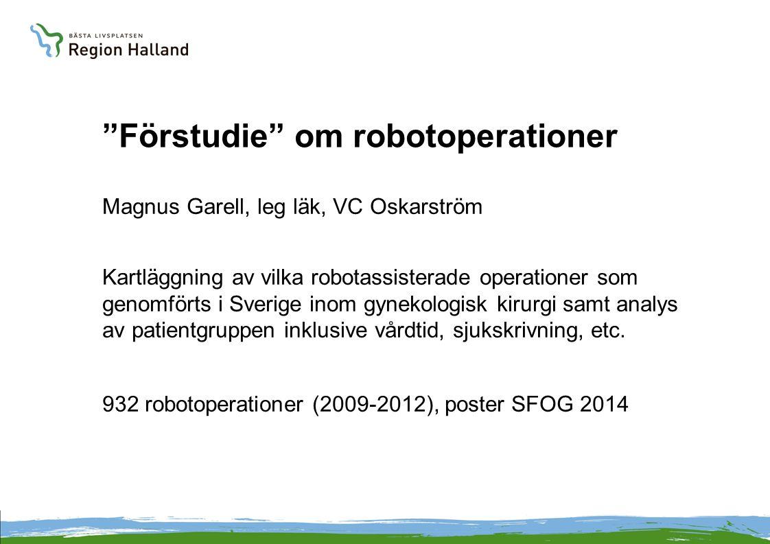 Förstudie om robotoperationer