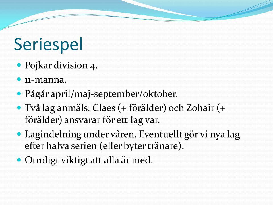 Seriespel Pojkar division 4. 11-manna.