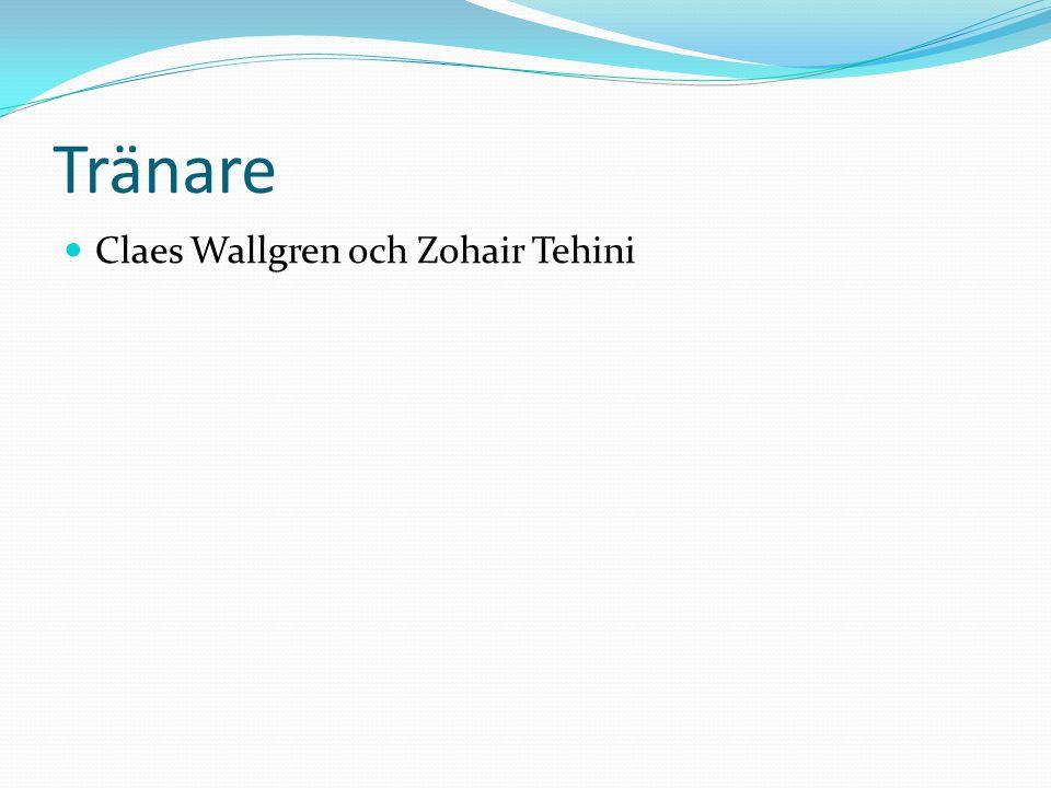 Tränare Claes Wallgren och Zohair Tehini