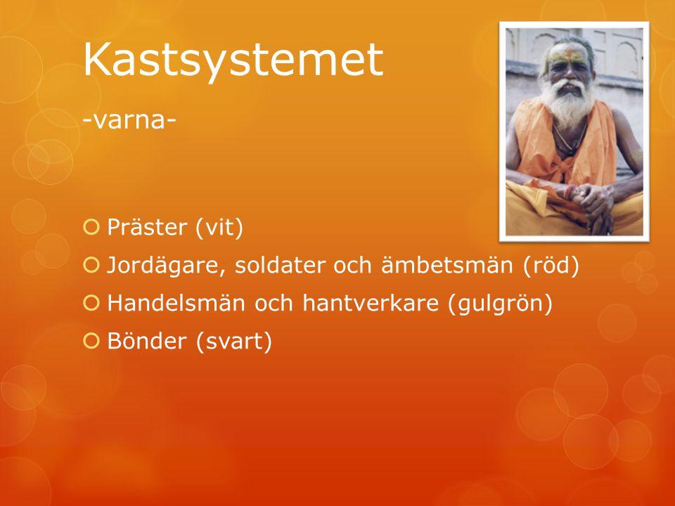 Kastsystemet -varna- Präster (vit)