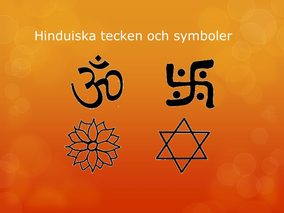 Hinduiska tecken och symboler