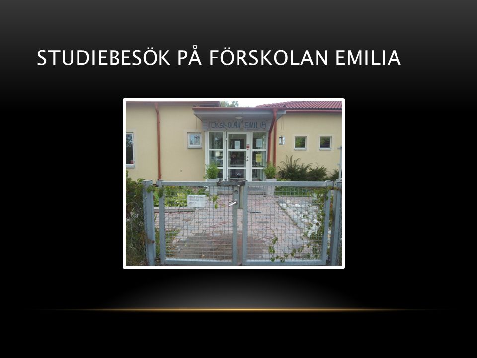 Studiebesök på förskolan Emilia