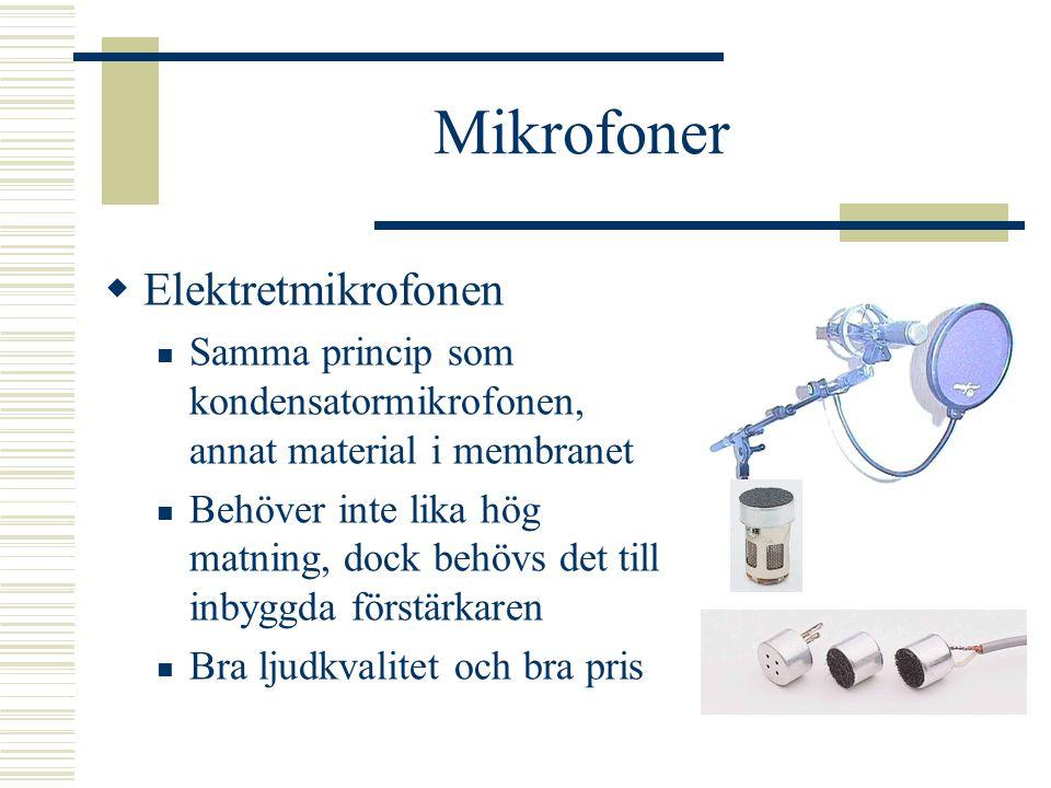 Mikrofoner Elektretmikrofonen