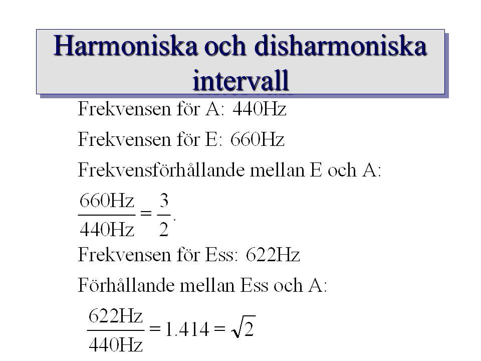 Harmoniska och disharmoniska intervall