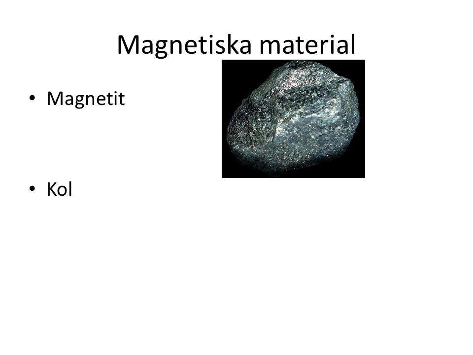 Magnetiska material Magnetit Kol