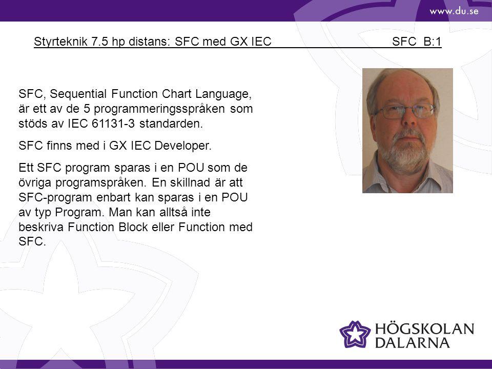 Styrteknik 7.5 hp distans: SFC med GX IEC SFC_B:1