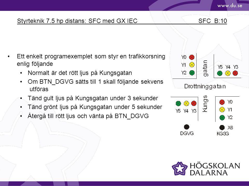 Styrteknik 7.5 hp distans: SFC med GX IEC SFC_B:10