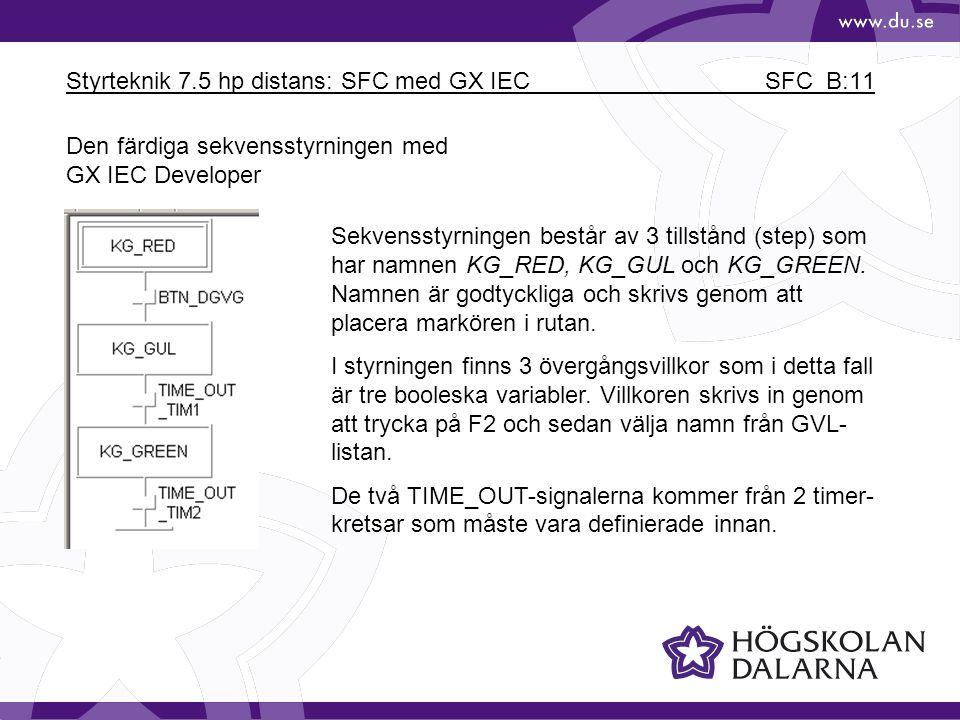 Styrteknik 7.5 hp distans: SFC med GX IEC SFC_B:11
