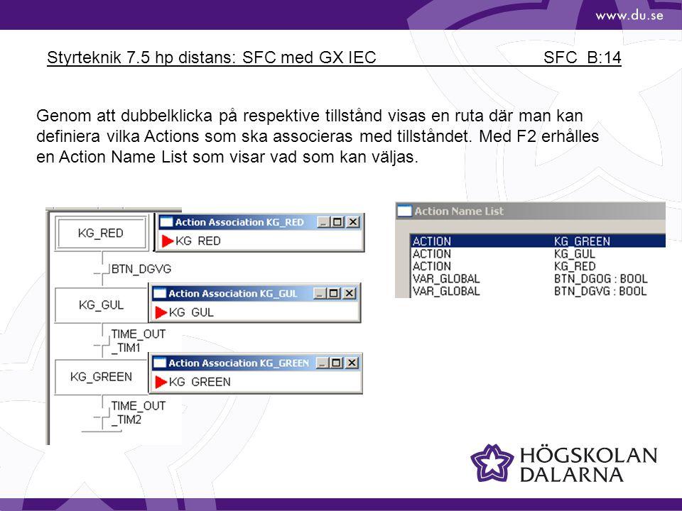 Styrteknik 7.5 hp distans: SFC med GX IEC SFC_B:14