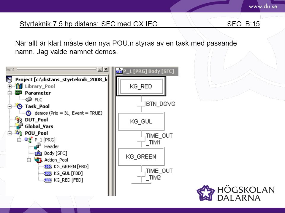 Styrteknik 7.5 hp distans: SFC med GX IEC SFC_B:15