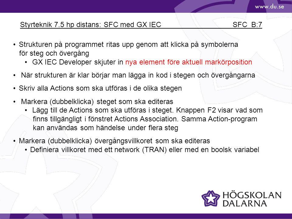 Styrteknik 7.5 hp distans: SFC med GX IEC SFC_B:7