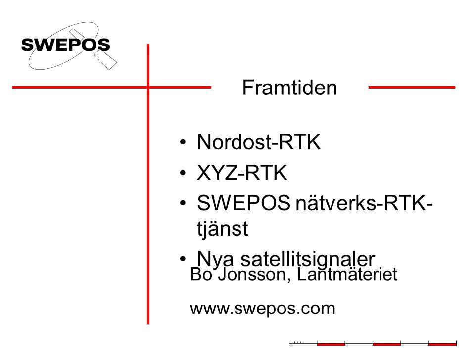 SWEPOS nätverks-RTK-tjänst Nya satellitsignaler