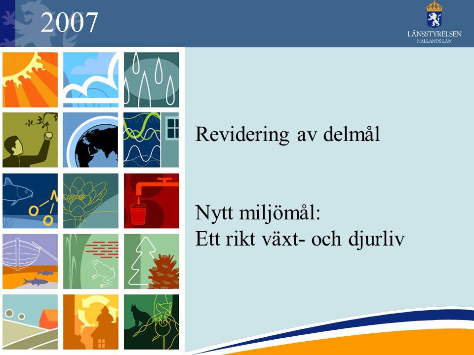 2007 Revidering av delmål Nytt miljömål: Ett rikt växt- och djurliv
