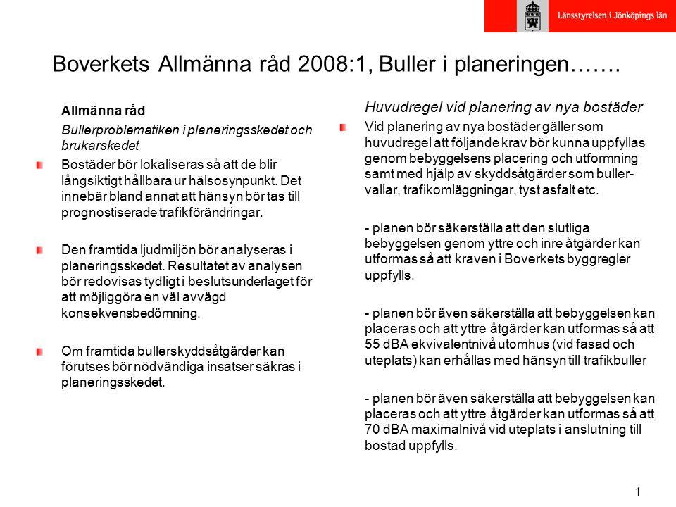 Boverkets Allmänna råd 2008:1, Buller i planeringen…….
