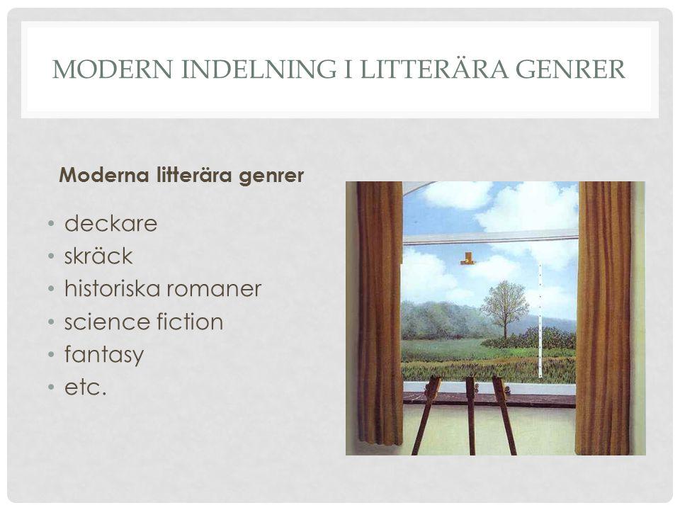 Modern indelning i litterära genrer