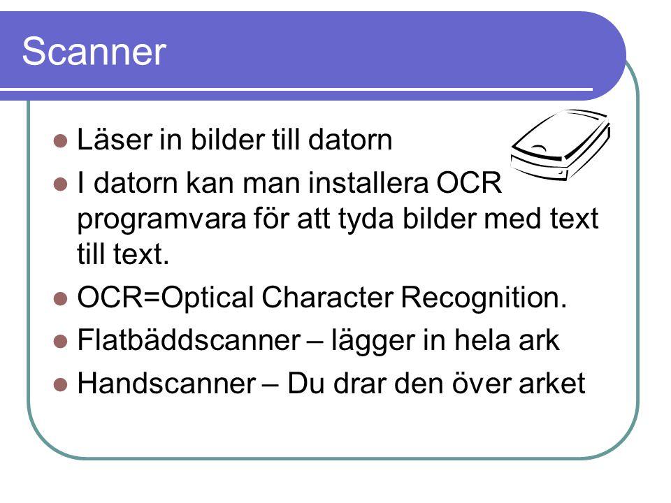 Scanner Läser in bilder till datorn