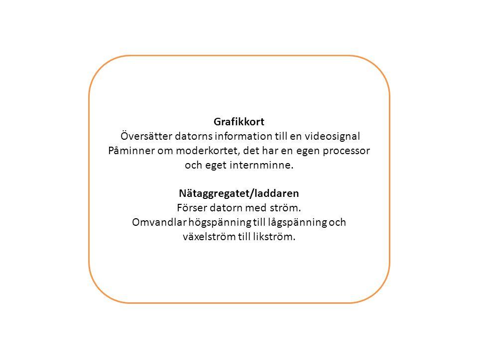 Nätaggregatet/laddaren