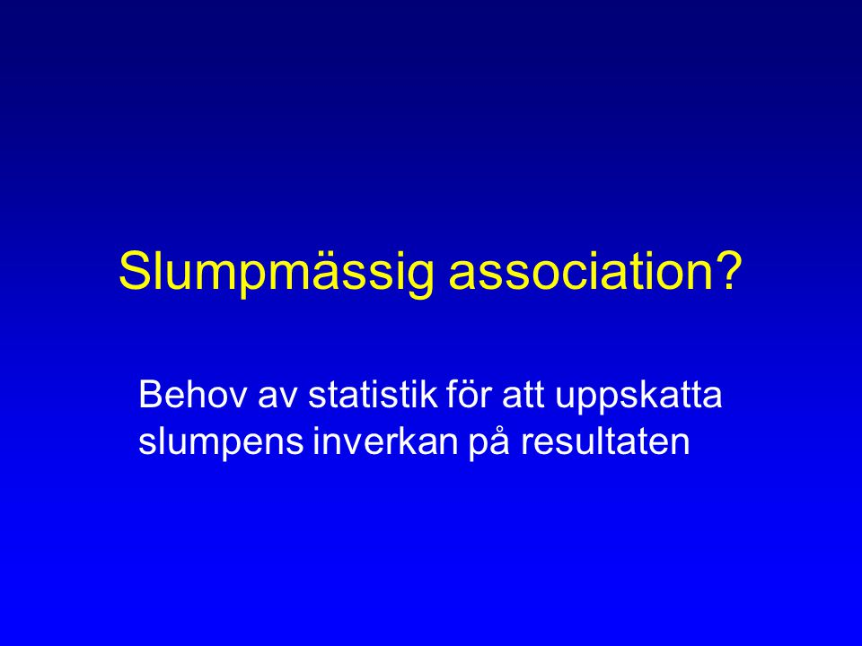 Slumpmässig association