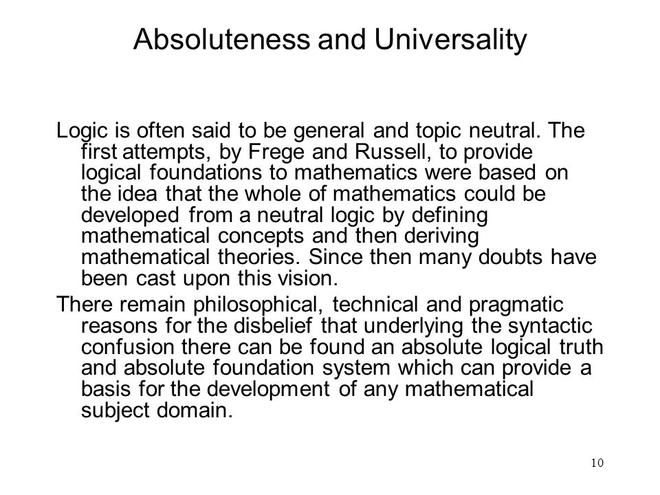 Absoluteness and Universality