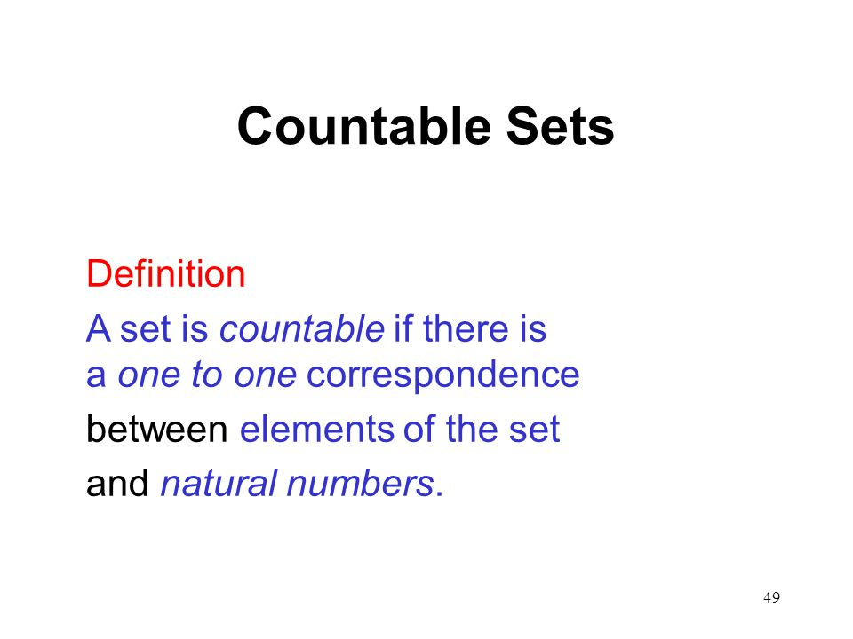 Countable Sets Definition