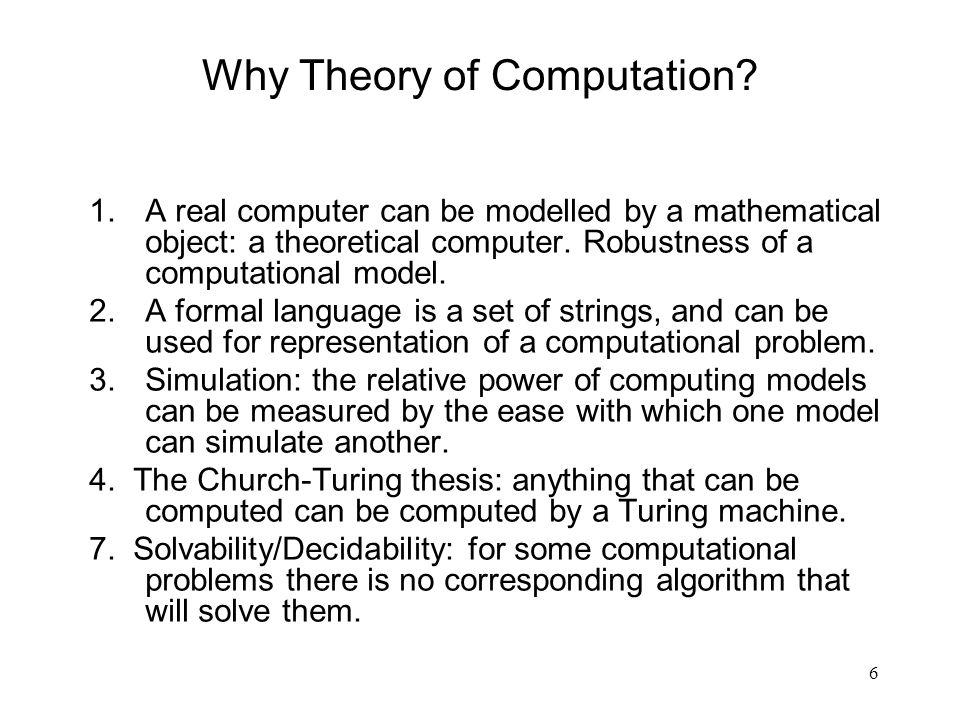 Why Theory of Computation