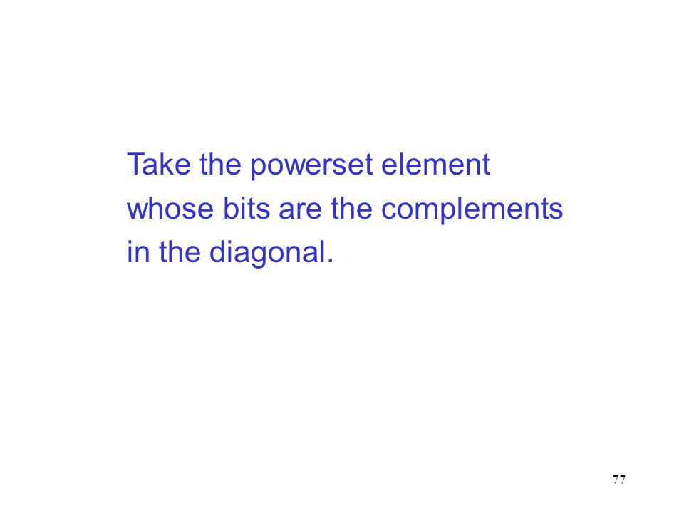 Take the powerset element