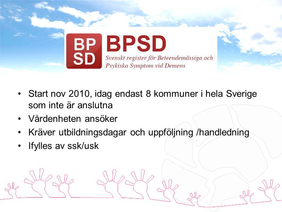 Start nov 2010, idag endast 8 kommuner i hela Sverige som inte är anslutna