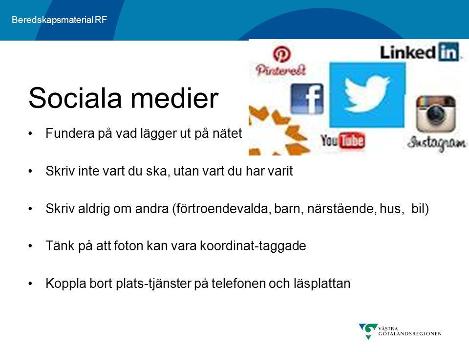 Sociala medier Fundera på vad lägger ut på nätet