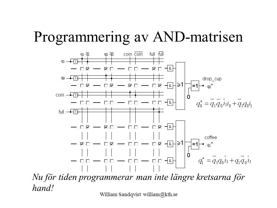 Programmering av AND-matrisen