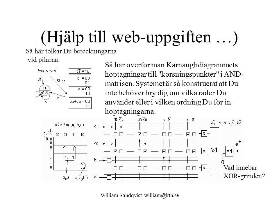 (Hjälp till web-uppgiften …)