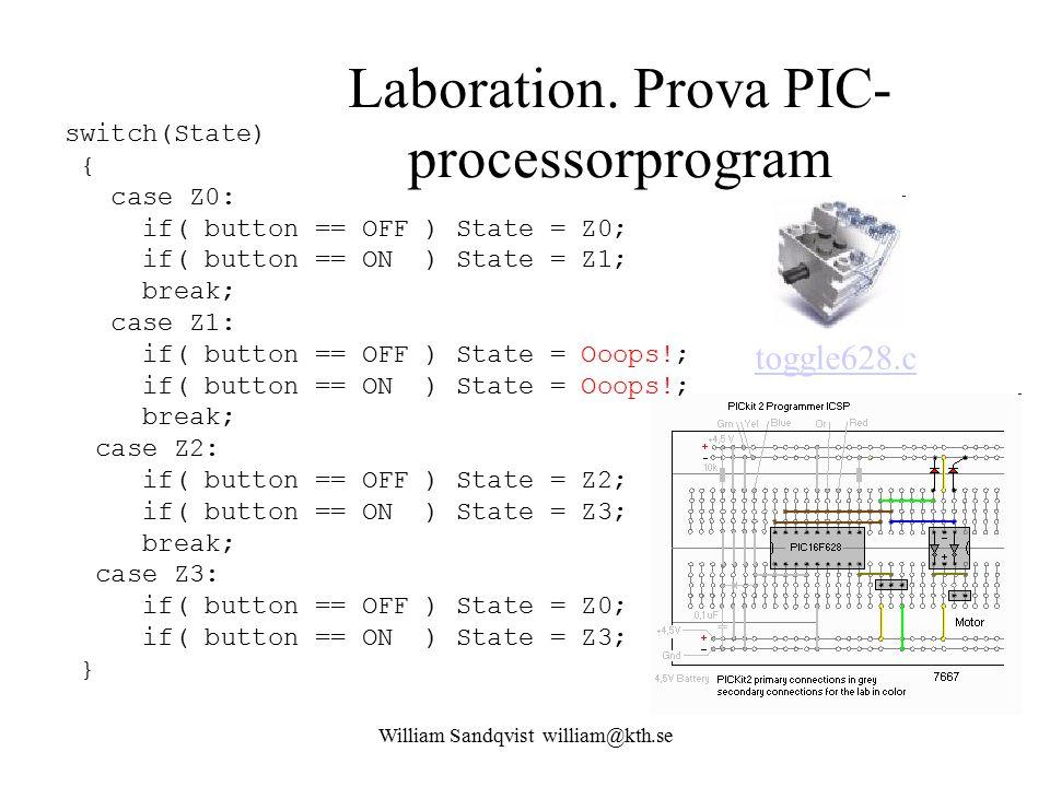 Laboration. Prova PIC-processorprogram