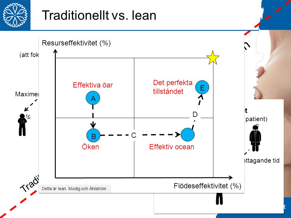 Traditionellt vs. lean Lean Traditionellt Resurseffektivitet (%)