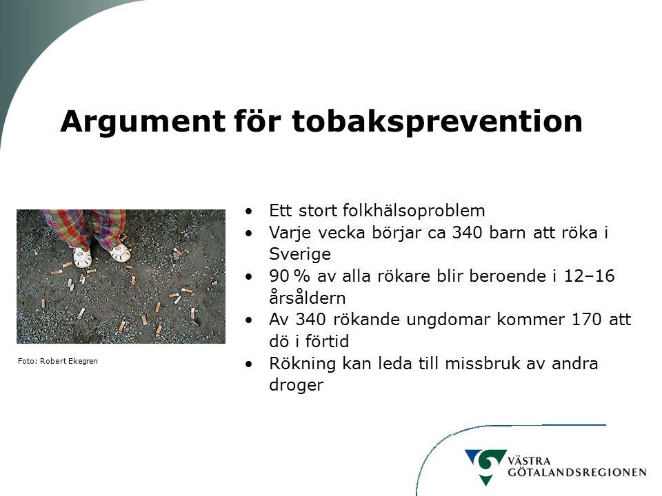 Argument för tobaksprevention