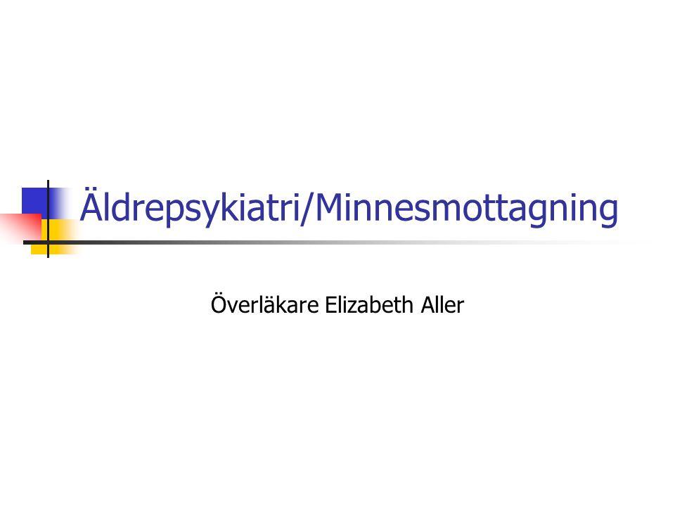 Äldrepsykiatri/Minnesmottagning
