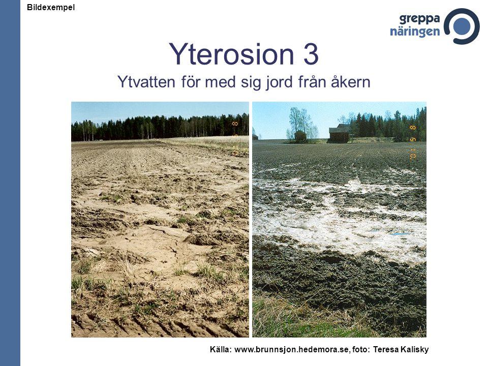 Yterosion 3 Ytvatten för med sig jord från åkern