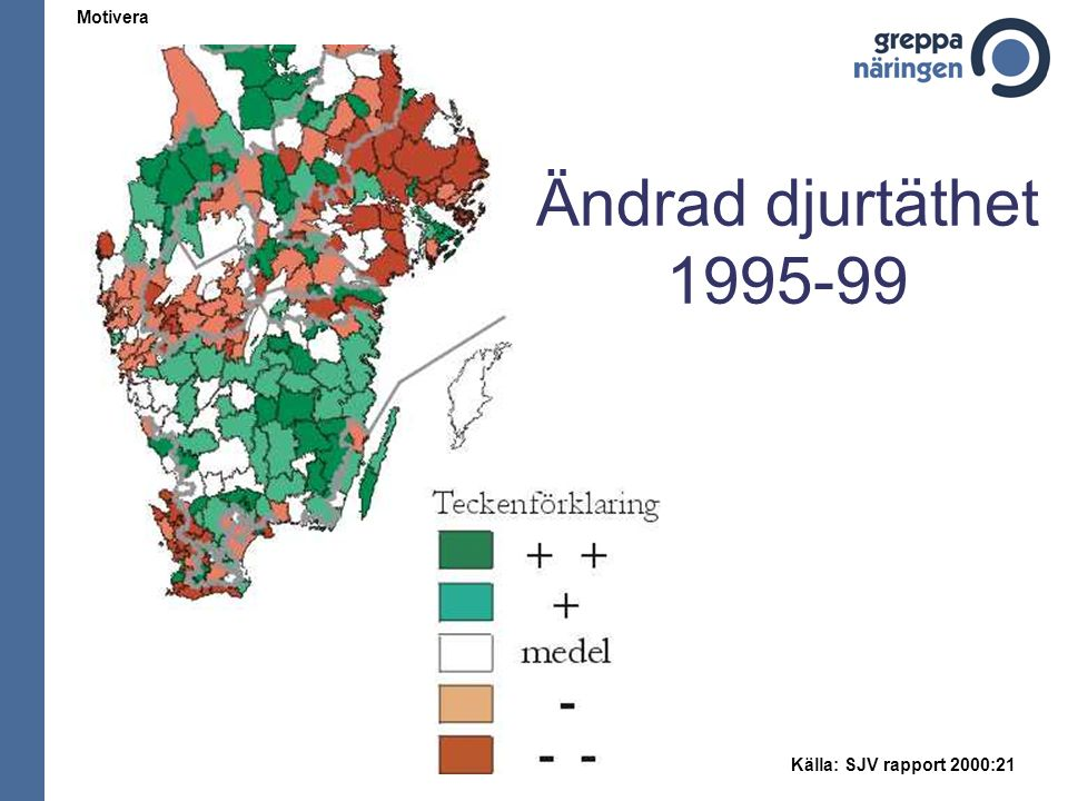 Ändrad djurtäthet 1995-99 Motivera