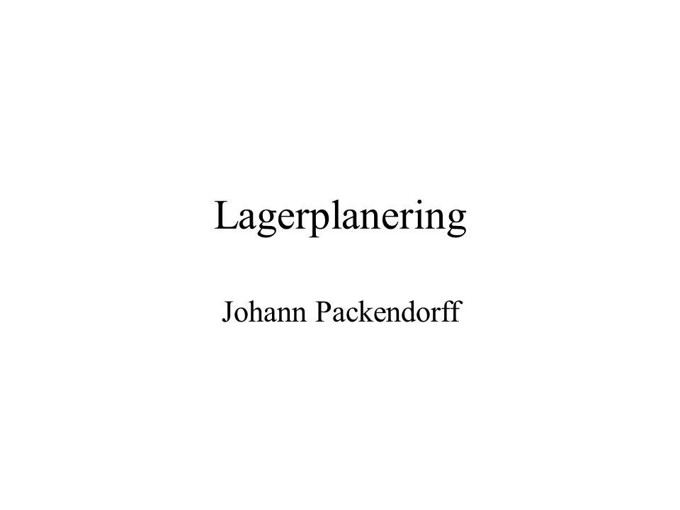 Lagerplanering Johann Packendorff