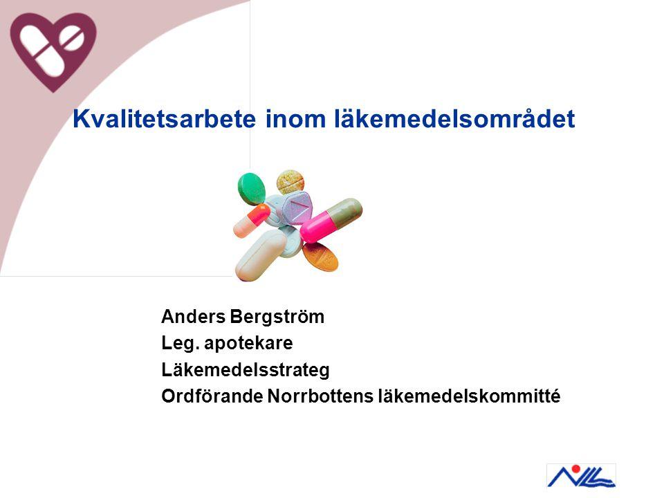 Kvalitetsarbete inom läkemedelsområdet