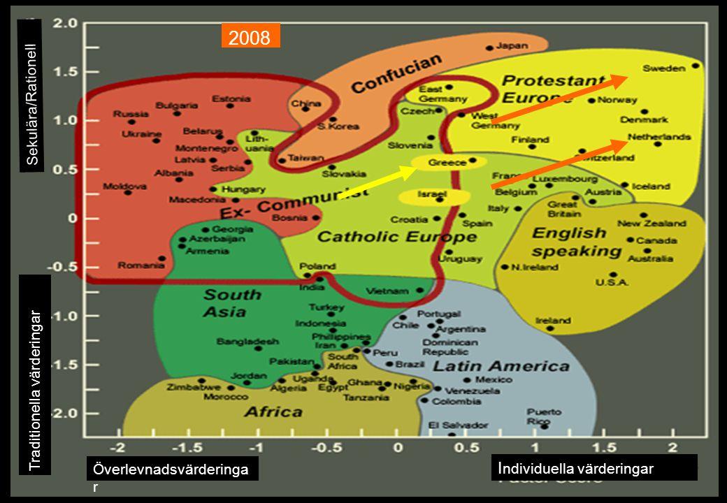 2008 Individuella värderingar Sekulära/Rationell