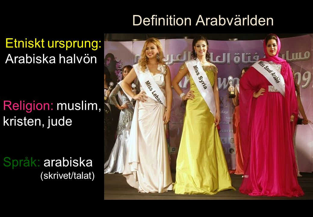 Definition Arabvärlden
