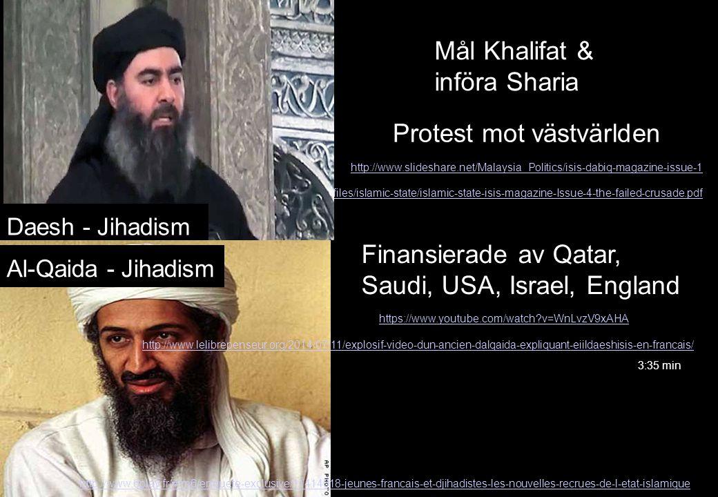 Mål Khalifat & införa Sharia