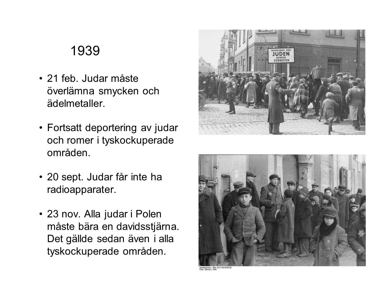 1939 21 feb. Judar måste överlämna smycken och ädelmetaller.