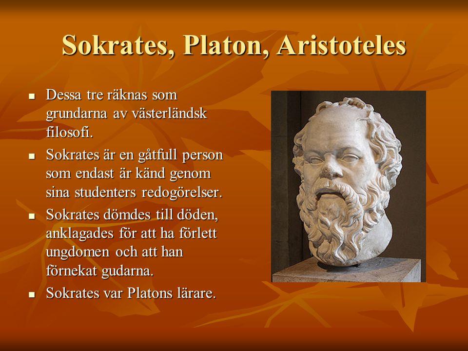 Sokrates, Platon, Aristoteles