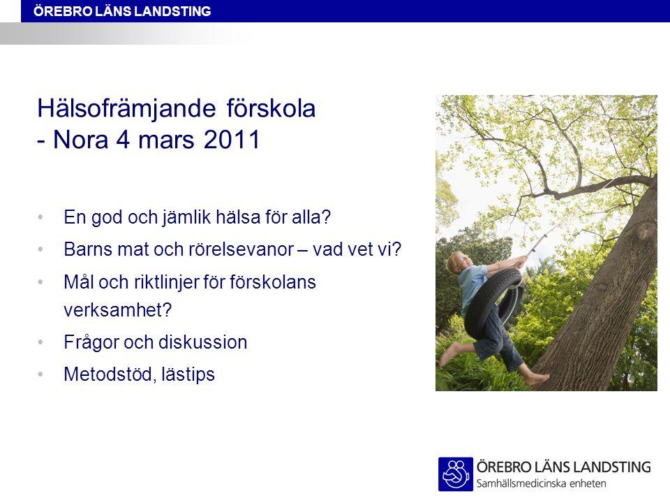 Hälsofrämjande förskola - Nora 4 mars 2011