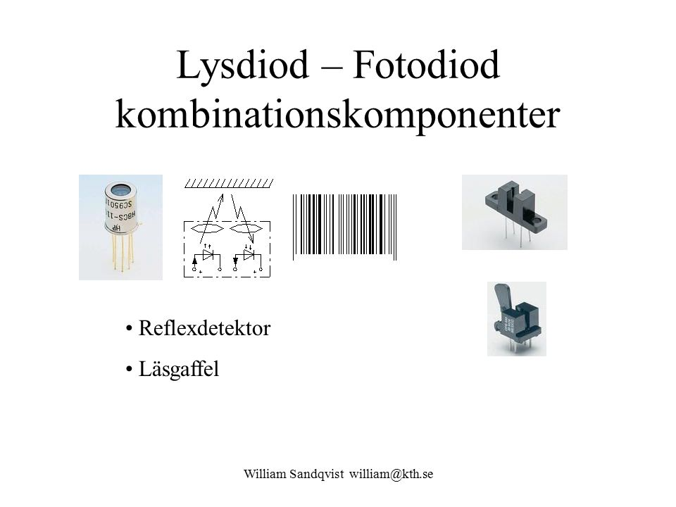 Lysdiod – Fotodiod kombinationskomponenter