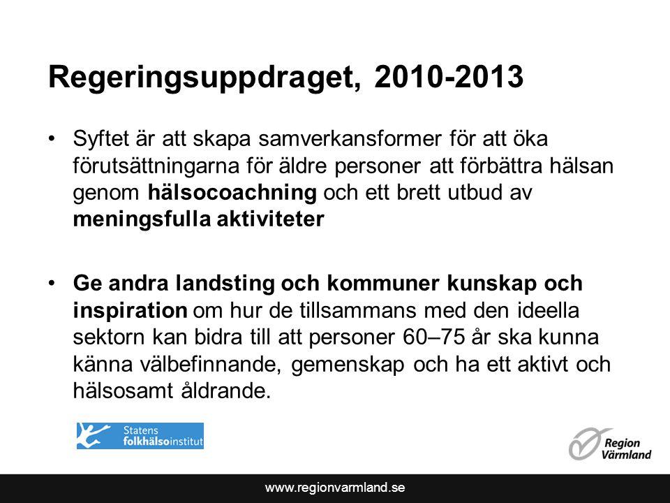 Regeringsuppdraget, 2010-2013