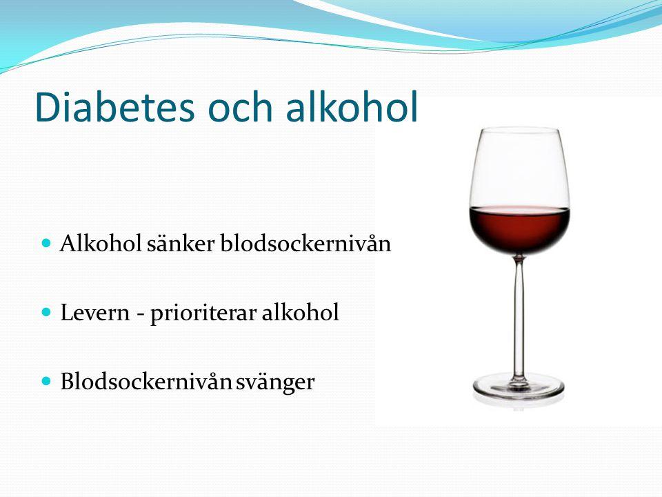 Diabetes och alkohol Alkohol sänker blodsockernivån