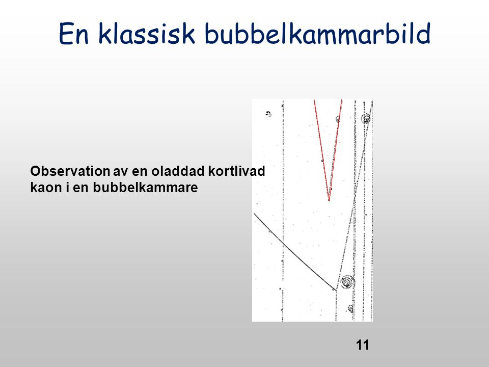 En klassisk bubbelkammarbild