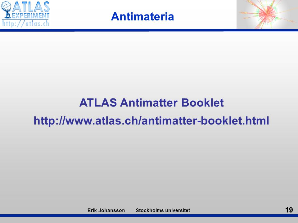 ATLAS Antimatter Booklet